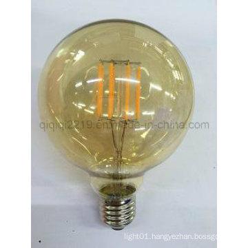 5W G95 COB Gold Colored LED Filament Bulb