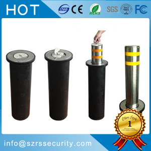 Road Safety Semi-Automatic Manual Bollard with Sollar Lights