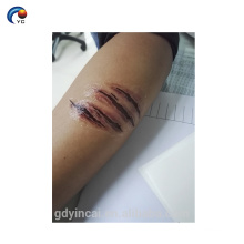 Custom 3d wound design realistic fake tattoo stickers with low price
