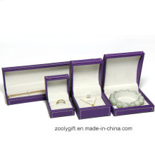 Stitching Leather Jewellery Box Ring / Necklace / Bracelet Packing Box