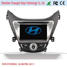 GPS de navegación HD 2 DIN estéreo reproductor de DVD de coche para Elantra 2011