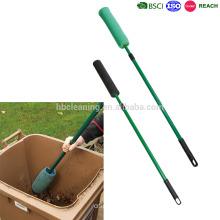 Wheelie Bin Brush with telescopic handle, long handle soft microfiber brush