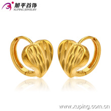 Promotion Wholesale Fashion Simple 24k Gold-Plated Heart Imitation Jewelry Hoop Earring - 28509