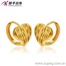 Продвижение Оптовая мода простой 24k позолоченный сердце бижутерия обруч серьги - 28509