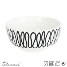 Bol de riz en porcelaine de 14 cm avec motif géométrique