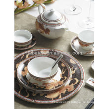 A026 2014new design elegance fine porcelain dinner set for hotel