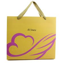 Flat Handle Brown Kraft Fancy Paper Gift Bag