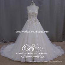 Модная бабочка Gelinlik кружева элегантный милая аппликация тюль свадебные платья 2017 для новобрачных без бретелек-линии свадебные платья