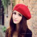 Mulheres Cap Beret Artista, estilo francês Autumn & Winter Vintage Cores sólidas Soft Felt Wool Beanie Hat, Moda Feminina Boinas Clássicas
