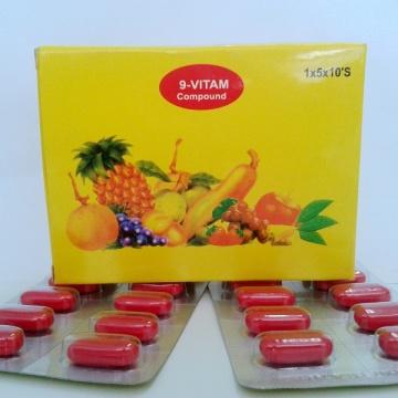 GMP 9 Comprimés Vitamines Composées --- Multivitamine