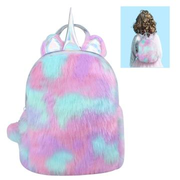 UNICORN COLORFUL PLUSH BACKPACK-0