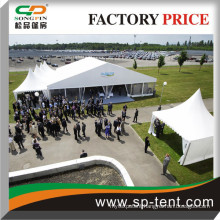 400 Seats Ridge Function Tents with Transparent sides and 5 pagoda canopies