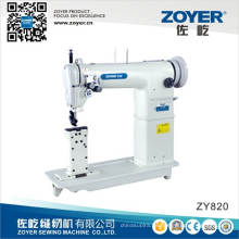 Máquina de coser poste-cama Zoyer oro rueda doble aguja (ZY820)