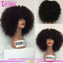 High quality small head wig 100% virgin human hair wholesale afro kinky curly lace wigs for small heads