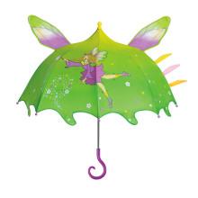 Paraguas de los niños de la historieta de la forma del genio abierto manual (BD-76)