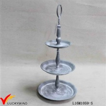 Gris Custom Round 3 Tier Fruit Stand Metal