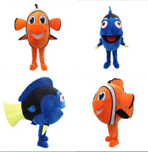 New Style Finding Nemo Dory Fish Mascot Costume Cartoon Character Costume Halloween and xmas Party Supply Adult Size