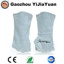 Guante industrial de la soldadura de cuero de la alta calidad de la fábrica con Ce