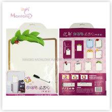 Presente relativo à promoção 33 * 48cm Wall / Icebox Memo Pad etiqueta com marcador