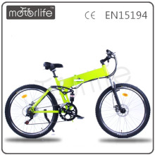 MOTORLIFE/OEM brand EN15194 48v 500w folding ebike , lucky lion electric bike