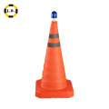 Flexible Traffic Safety Cones With Lights