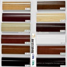Todos los tipos accesorios de pisos de madera, línea de zócalo, escalera de nariz