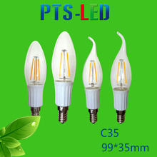 C35 2W 4W 6W 210-500lm Dimmable LED Filament Bulb