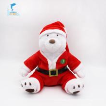 Brinquedo britânico macio do urso do Natal da alta qualidade