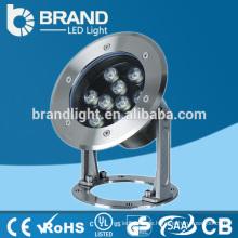 IP68 Edelstahl 9W LED Unterwasserfischen-Licht 12 / 24V, CER RoHS