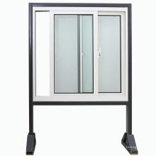 Ventana de deslizamiento de aluminio de doble acristalamiento de diseño más reciente / ventanas de aluminio (KW1012)