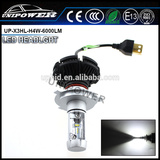 Wholesale super quality X3 led headlight H4 6000LM 50W Lumens Zes,fanless CE ROHS approved
