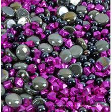 Venta al por mayor de piedra de hielo acrílico de color, negro, decoración de Halloween