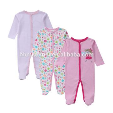 2017 niñas bebé recién nacido conjunto 100% algodón invierno manga larga del regalo del mameluco para 3 meses bebé niñas