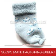 Baby Terry Socken mit Anti Slip Fuß (UBUY-110)