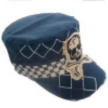 Промытая военная шляпа с аппликацией (MT22)