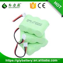 Precio de fábrica al por mayor 2/3 AA 600 mah 3.6 v ni-mh paquete de batería del teléfono celular