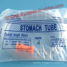 Tubo de estômago transparente de alta qualidade descartável médico estéril do PVC