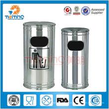 Compartimiento de basura derecho del acero inoxidable interior redondo de los 20cm