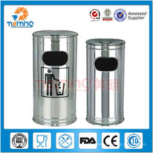 201 stainless steel standing ashtray bin