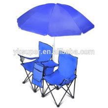 Cadeira de amor dupla leve com guarda-chuva