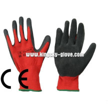 13G Polyester Liner Roter Latex getauchter Handschuh-5239