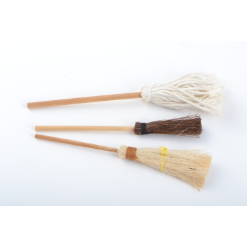 Dollhouse Miniature Bristled Brooms