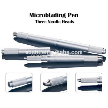Neue Generation drei Köpfe Manuelle Augenbraue Tattoo Microblading Pen, 3 PINS Manuelle Augenbraue Permanent Make-up Tattooing Stift