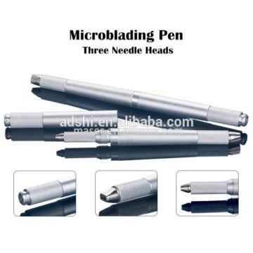 Nueva generación de tres cabezas de cejas manual de Tatuaje Microblading Pen, 3 PINS manual cejas maquillaje permanente tatuaje de la pluma