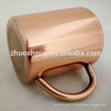 Fabrication de haute qualité tasse plaqué de moscow mule cuivre