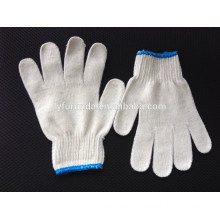Natural white cotton yarn work glove