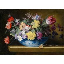 Окрашенные вручную керамические цветочные горшки