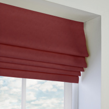 Traditional fabric roman blinds