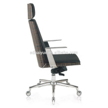 2017 популярных новый дизайн средней спинкой офисный стул с оружием хром