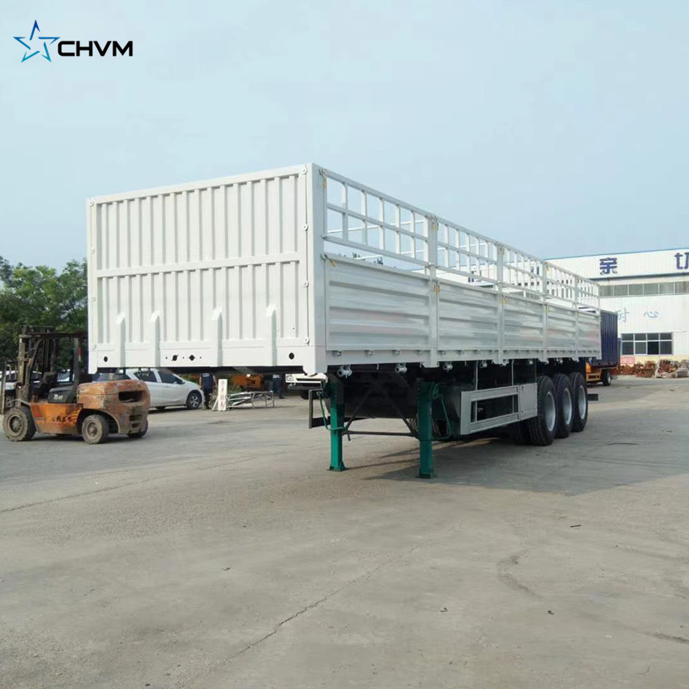 3 Axles Side Wall High Bed Semi Trailer